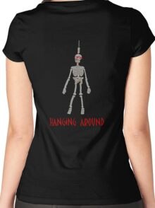 hanging skeleton 2 Women's Fitted Scoop T-Shirt