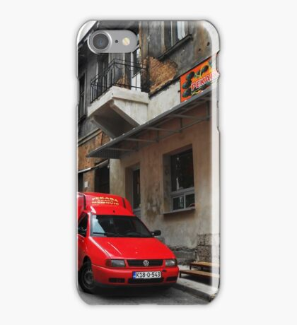 Red car iPhone Case/Skin