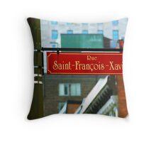 Montreal - Rue Saint Francois Xavier Throw Pillow