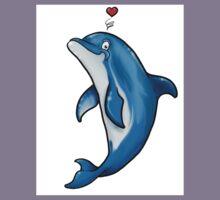 Bottlenose Dolphin Love Kids Tee