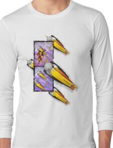 space ship invasion squadron Long Sleeve T-Shirt