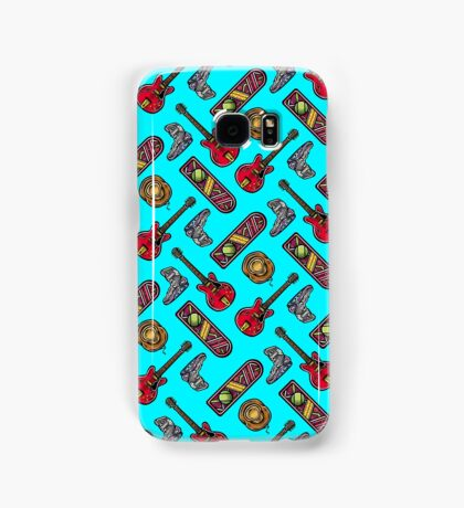 Back to the Future Pattern Samsung Galaxy Case/Skin
