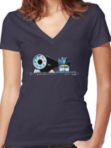 Soundwave! Women's Fitted V-Neck T-Shirt