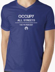 Occupy All Streets Commando Style - White Mens V-Neck T-Shirt