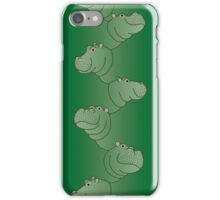 Hippoline-long, Patina iPhone Case/Skin