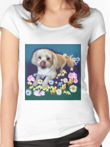 Doggy in the Garden Women's Fitted Scoop T-Shirt
