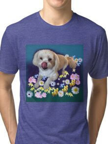 Doggy in the Garden Tri-blend T-Shirt