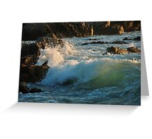 Waves in Monterey Greeting Card