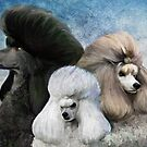 Poodles by Cazzie Cathcart