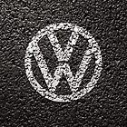 VW Volkswagen Logo - Paint on Tarmac Iphone Case / Cover by David Evans