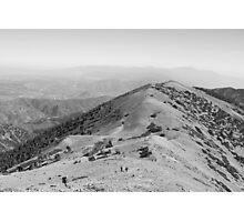 Devil's Backbone-Mt. San Antonio peak Photographic Print