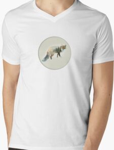 winter fox Mens V-Neck T-Shirt