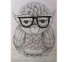 Mondayitis Owl Drawing  Photographic Print