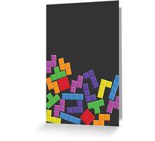Tetris Error Greeting Card