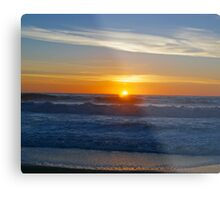 A sunset on the beach at Cambria, Ca. Metal Print