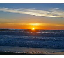 A sunset on the beach at Cambria, Ca. Photographic Print