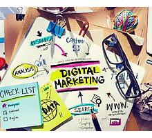 Digital Marketing Art Photographic Print