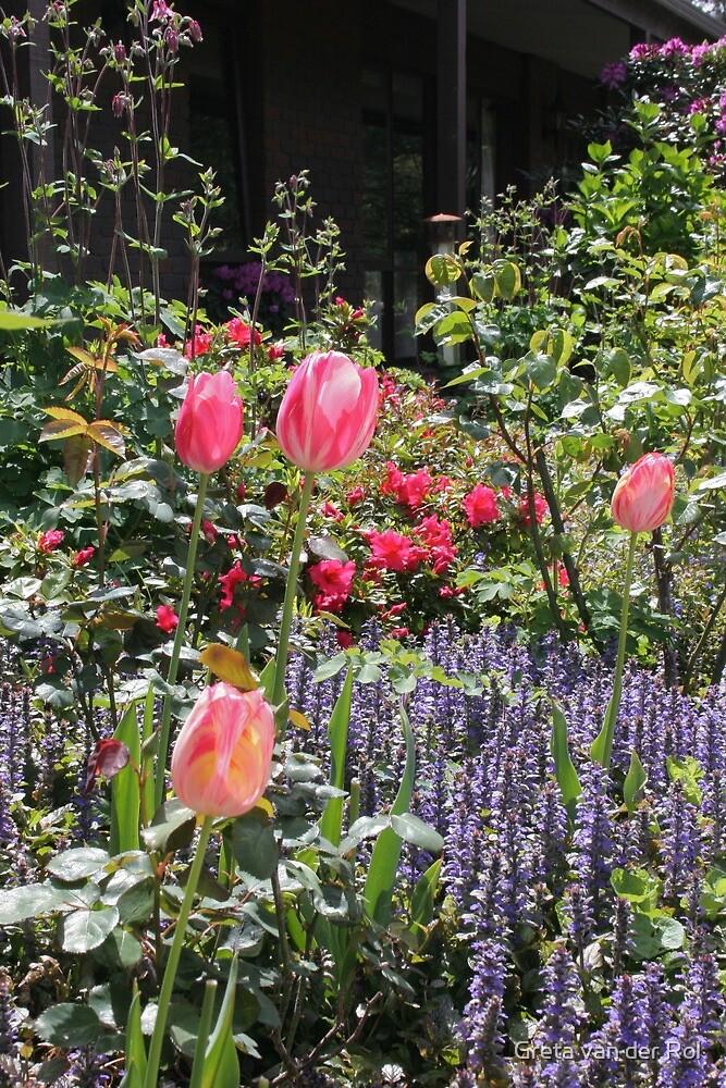 Tulips and Ajuga by Greta van der Rol