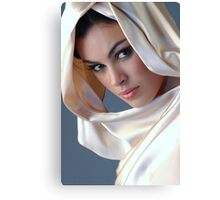 Portrait of sophisticated brunette woman Canvas Print