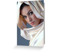 Portrait of sophisticated brunette woman Greeting Card
