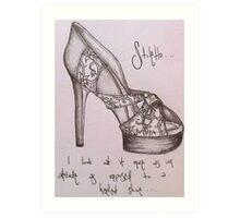 Stiletto Art Print