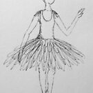 Ballerina drawing by Krissy  Christie