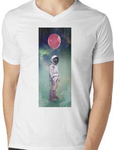 Red Balloon Mens V-Neck T-Shirt