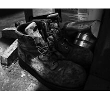 Work Boots Photographic Print