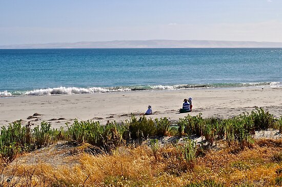 Enjoying Penneshaw Beach, Kangaroo Island by Ian Berry