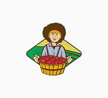 Farmer Boy Straw Hat Tomato Harvest Unisex T-Shirt