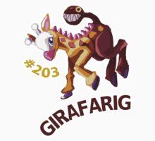 Girafarig Hopping - Pokemon Kids Clothes