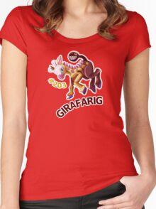 Girafarig Hopping - Pokemon Women's Fitted Scoop T-Shirt