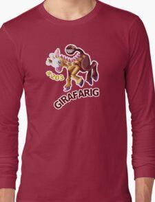 Girafarig Hopping - Pokemon Long Sleeve T-Shirt