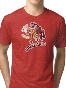 Girafarig Hopping - Pokemon Tri-blend T-Shirt
