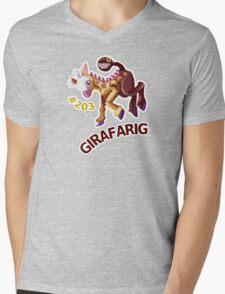 Girafarig Hopping - Pokemon Mens V-Neck T-Shirt