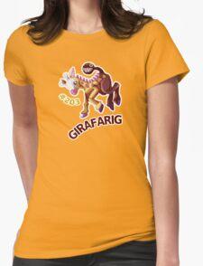 Girafarig Hopping - Pokemon Womens Fitted T-Shirt