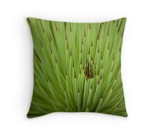Spikey Green Throw Pillow