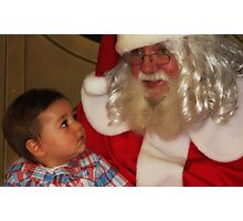 """It's my First Christmas Santa ! "" Photographic Print"