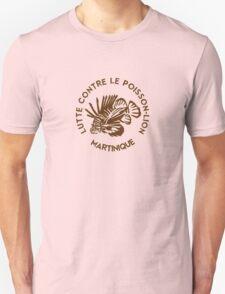 Lutte contre le poisson-lion - Martinique - Marron T-Shirt