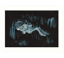 Ophelia drowned Art Print