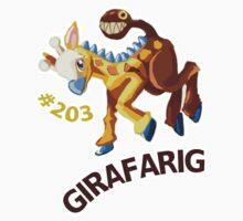 Shiny Girafarig Hopping - Pokemon Kids Tee