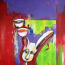 Rabbit. (After Charles Blackman). by Jacqui Lewis
