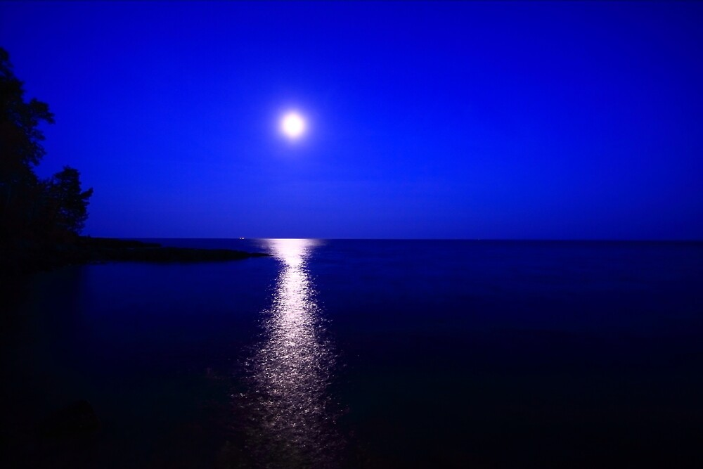 Moon over Superior by Scott Canfield