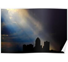 Angle Rays over Des Moines Poster