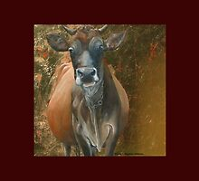 La Madonna -- Expectant Mother Cow by M. E.  Bilisnansky McMorrow
