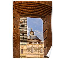 Archway to Siena Cathedral  Poster