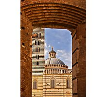 Archway to Siena Cathedral  Photographic Print