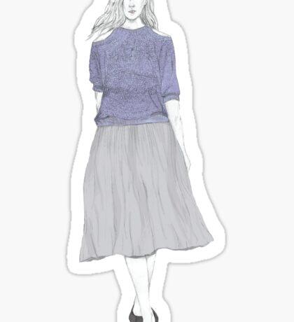 Lilac Knit Sticker