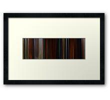 Moviebarcode: Brave (2012) Framed Print