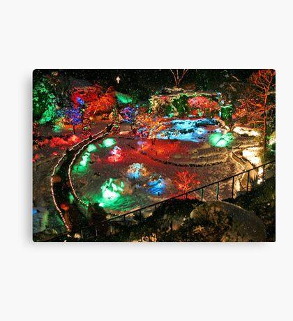 BUTCHART Gardens : Winter Wonderland Canvas Print